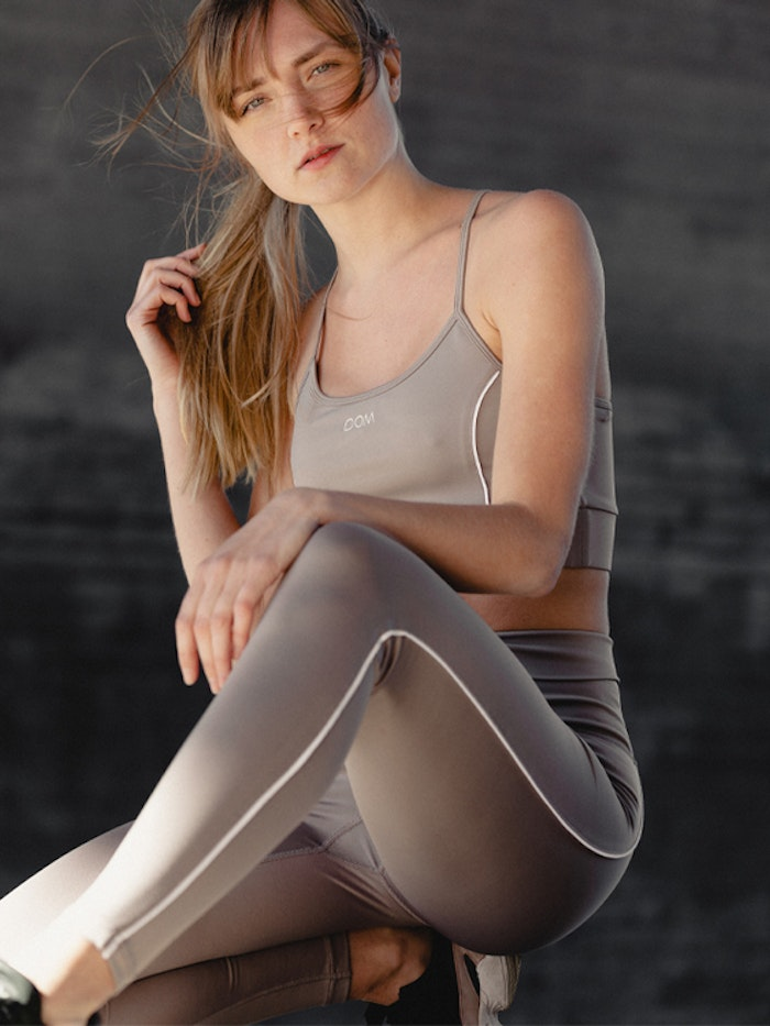 Sport-BH Yoga Leia Piped Taupe - DOM