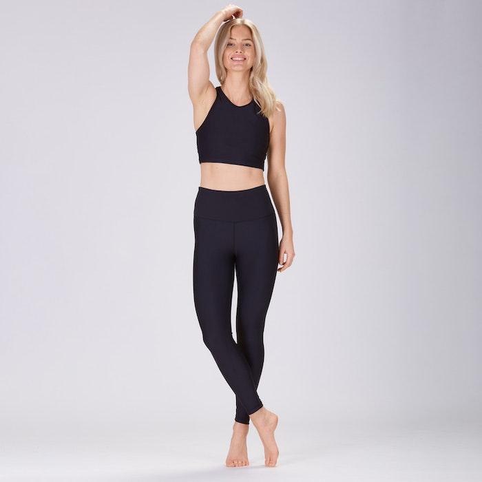 Yoga leggings Classic High waisted 7/8 Black - Sisterly