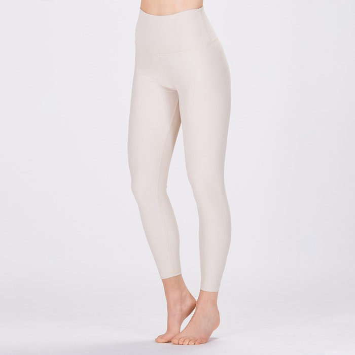 Yoga leggings Classic High waisted 7/8 Cream - Sisterly