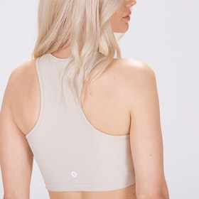 Sport-BH Yoga Midi Crop Top Cream - Sisterly