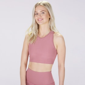 Sport-BH Yoga Midi Crop Top Dusty Pink - Sisterly