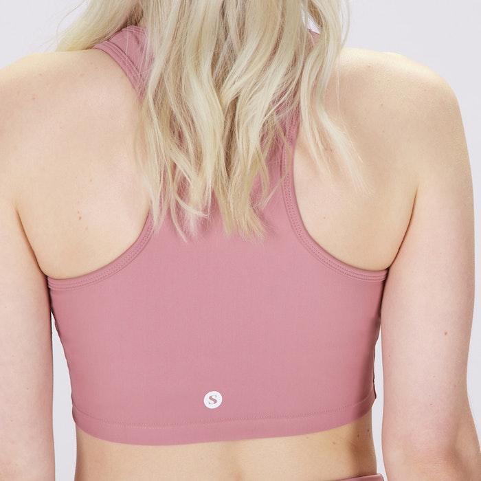Sport-BH Yoga Midi Crop Top Dusty Pink - Sisterly