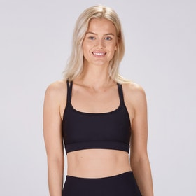 Sport-BH Yoga Classic double thin strap Black - Sisterly