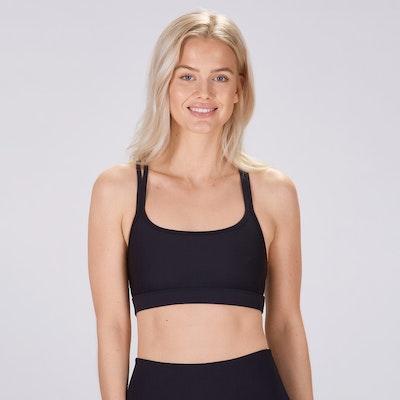 Sport-BH Yoga Classic double thin strap Black - Sisterly