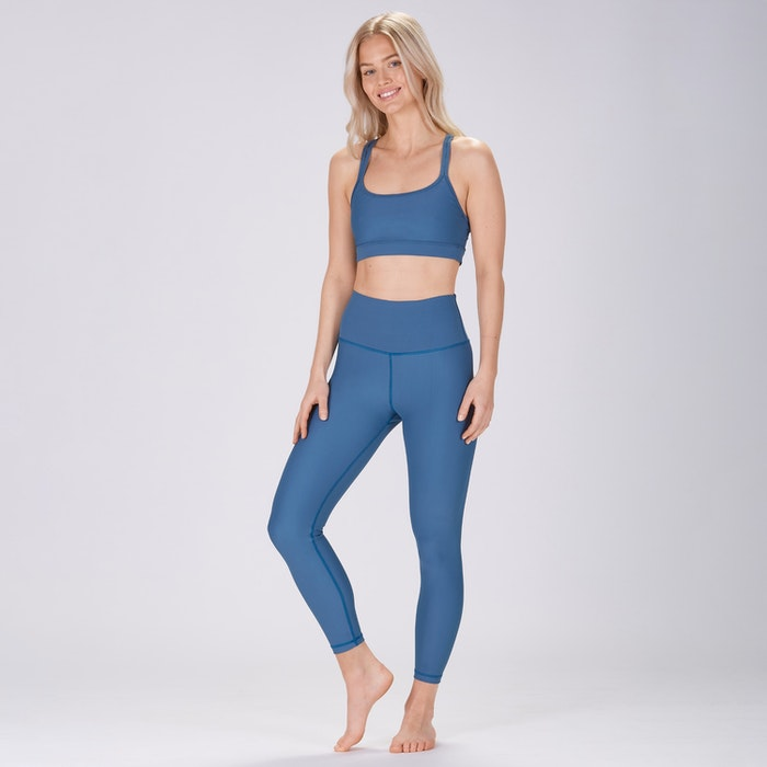 Sport-BH Yoga Classic double thin strap Pine Blue - Sisterly