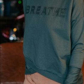 """Tröja Hoodie """"Breathe"""" Balsam Green - Yogia"""