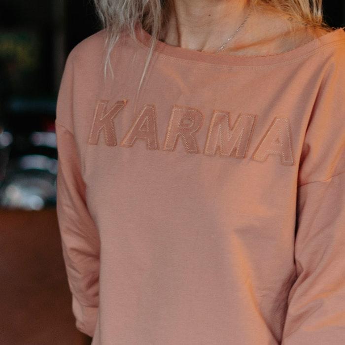 "Tröja Sweater Puff ""Karma"" Cork - Soul Factory"