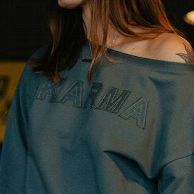 "Tröja Sweater Puff ""Karma"" Balsam Green - Yogia"