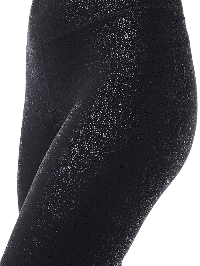 Yogaleggings Sparkling Tights Glitter Black - Mandala