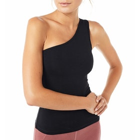Yogalinne One Shoulder Top Black - Mandala