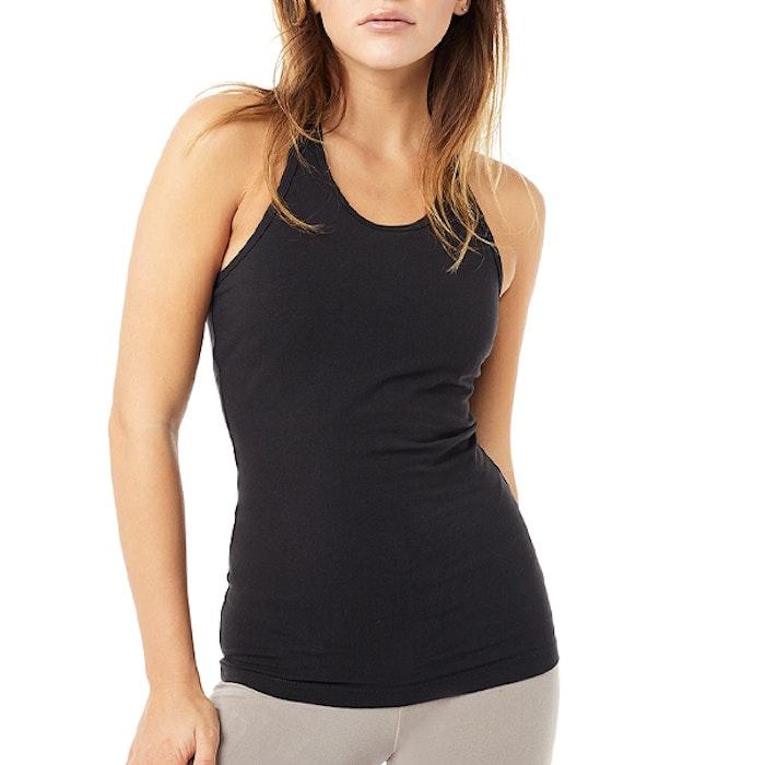 Yogalinne Extra Long Top Black - Mandala