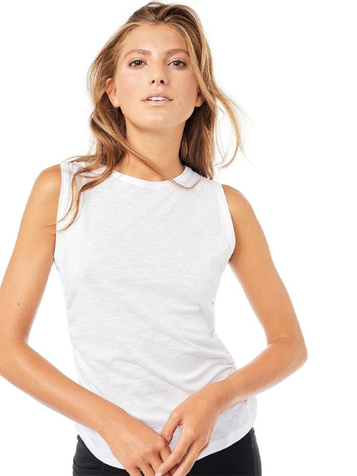 Yogalinne Side Ruffled White - Mandala