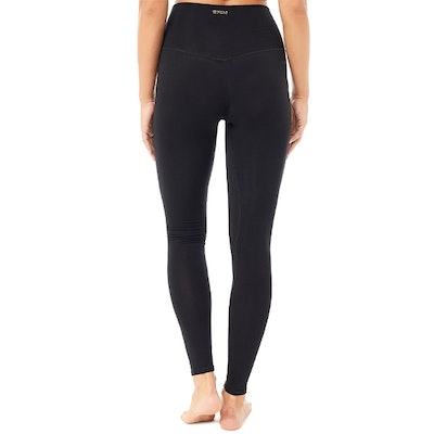 Yogaleggings High Rise Basic Black - Mandala
