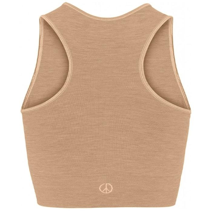 Seamless Crop Top Camel - Moonchild Yogawear