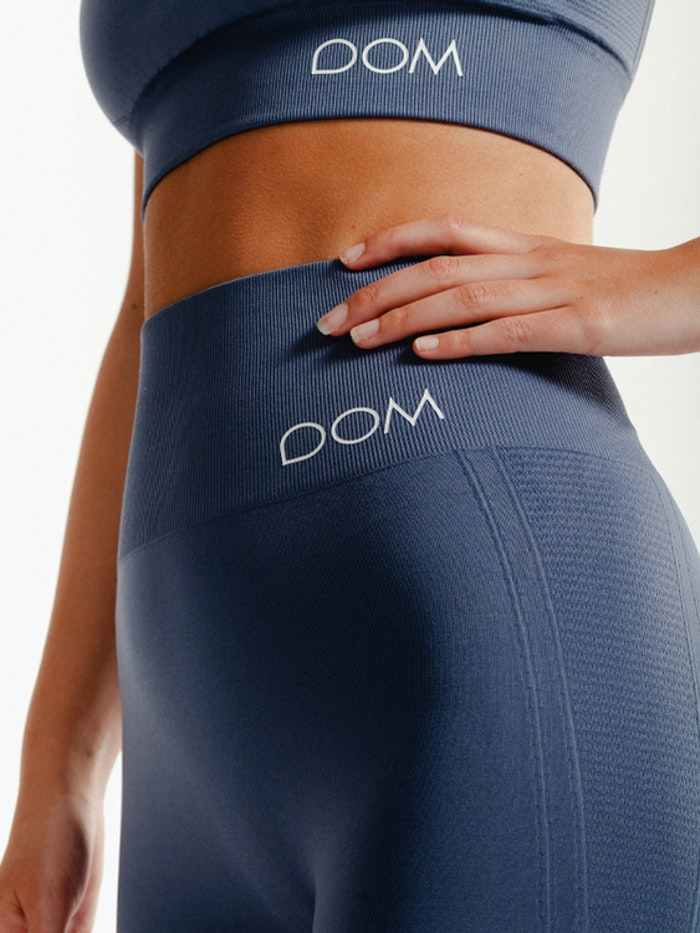Yogaleggings Seamless CORA Faded Blue - DOM