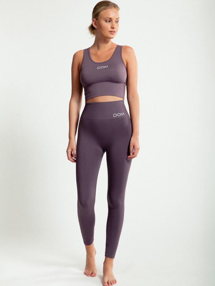 Yogaleggings Seamless CORA Dusty Plum - DOM