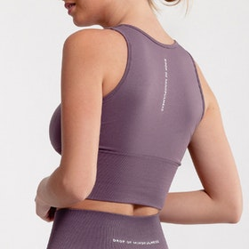 Sport-BH Crop Top Seamless June Dusty Plum - DOM