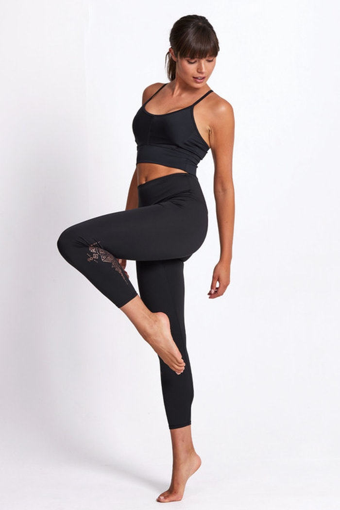 Yogaleggings Aztec Empire Recycled Foil High Waist 7/8 - Dharma Bums