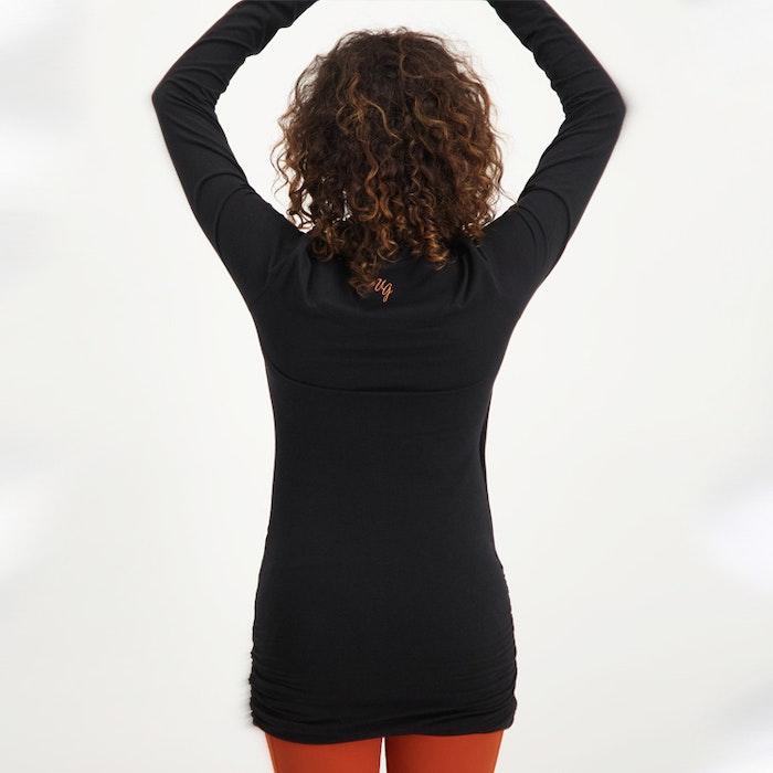 Yogatröja Good Karma longsleeve tunic Black - Urban Goddess