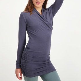 Yogatröja Good Karma longsleeve tunic Rock - Urban Goddess