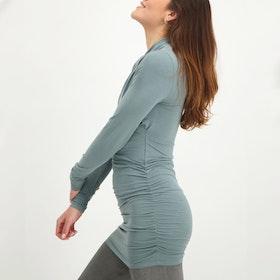 Yogatröja Good Karma longsleeve tunic Jade - Urban Goddess