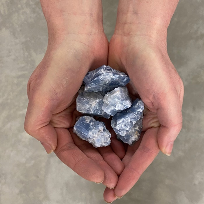 Blå Kalcit