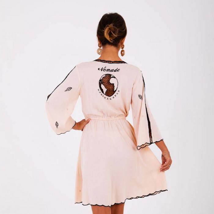 Klänning Mayan Mini Kimono Dress - Zaimara