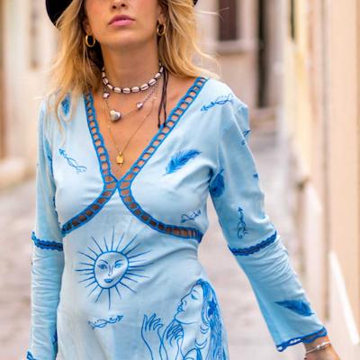 Klänning Greek Goddess Tunic - Zaimara