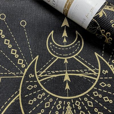 Yogamatta Sacred Extra Thick Black 6mm - Love Generation