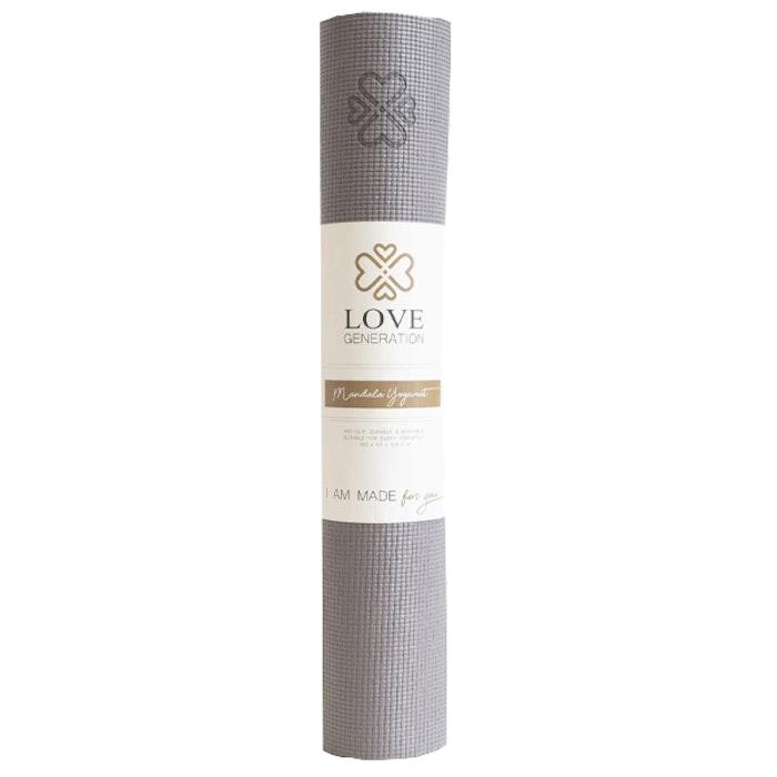 Yogamatta Mandala Warm Grey 4mm - Love Generation