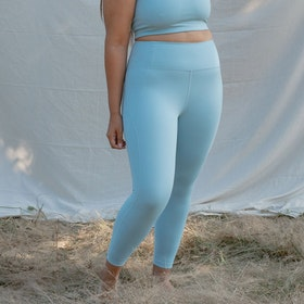 Yogaleggings High Rise Long Sky - Girlfriend Collective