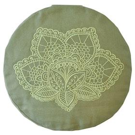 Meditationskudde Lotus Olive Green - Love Generation