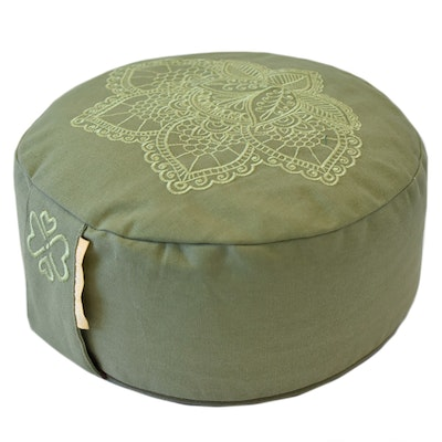 Meditationskudde Lotus Olive Green - Love Generation