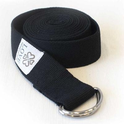 Yogabälte Cotton Black - Love Generation