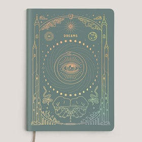 Dagbok Ether Dream Journal Teal Gold A5 - Magic of I