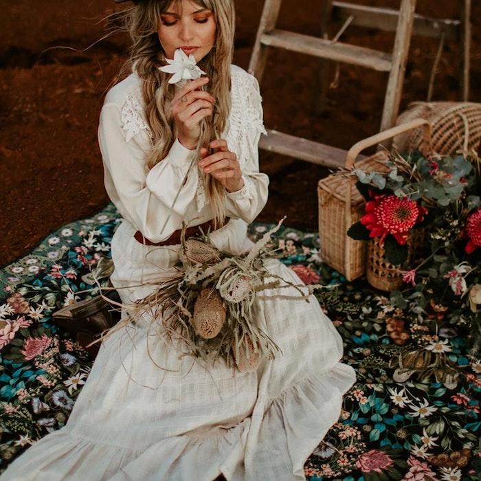 Picknick filt Native Wildflower - Wandering Folk