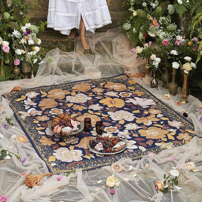 Picknick filt Grande Fleur Nightshade - Wandering Folk