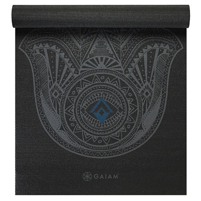 Yogamatta 4mm Grey Hamsa - Gaiam