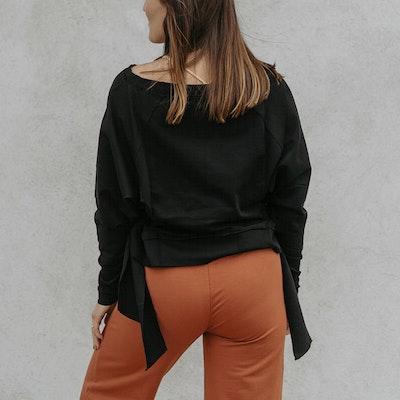 Tröja Sweater Knot Black - Yogia