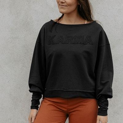"Tröja Sweater Puff ""Karma"" Black - Soul Factory"