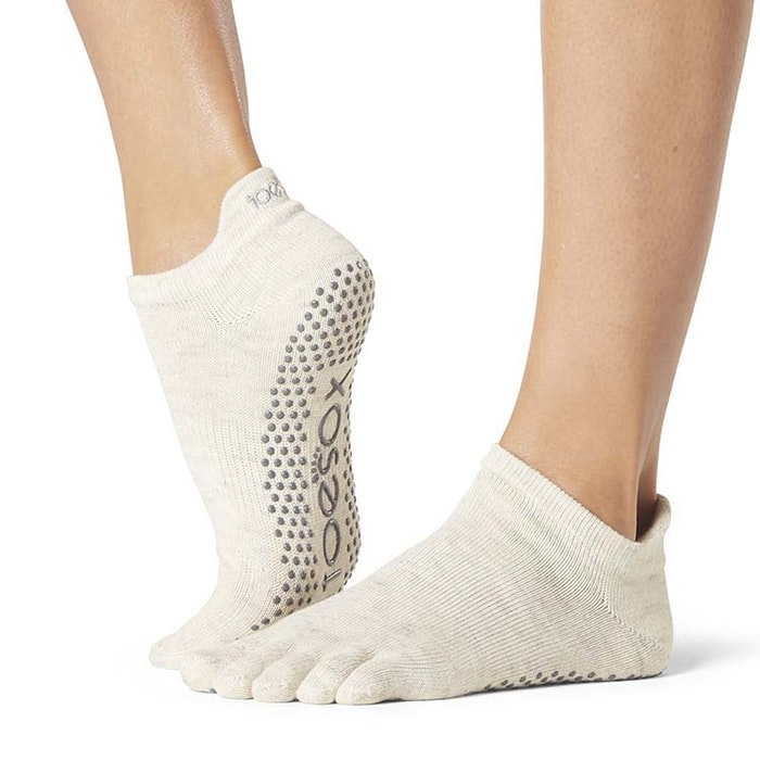 Yogastrumpor Fulltoe Low Rise Grip Oatmeal - Toesox