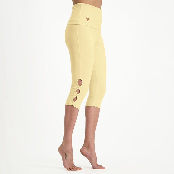 Yogaleggings Shanti Capri Honeysuckle - Urban Goddess