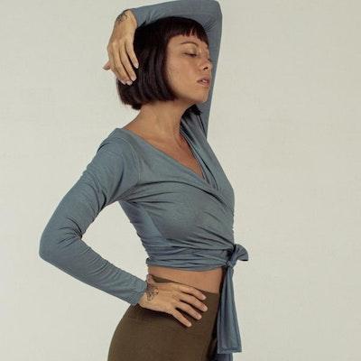 Yogatröja Moksha Wrap Top Indigo - Indigo Luna
