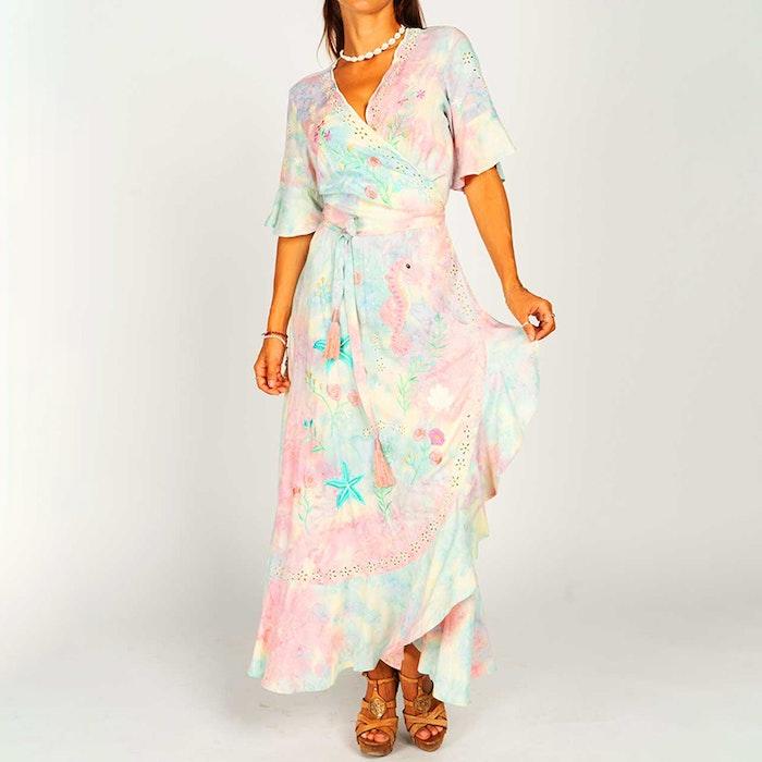 Klänning Chania Sunset Maxi Wrap Dress - Zaimara