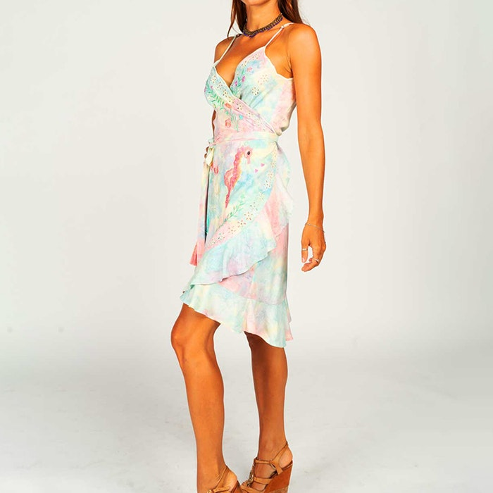 Klänning Chania Sunset Slip Wrap Dress - Zaimara