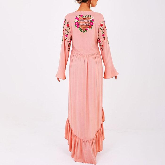 Klänning High Low (nectar Peach) - Zaimara