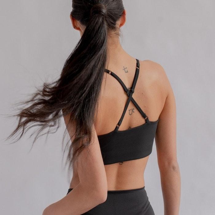 Sport-BH Yoga FLOAT Juliet Black - Girlfriend Collective
