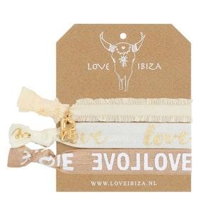 Hairties hårband/armband Cream Candy - Love Ibiza