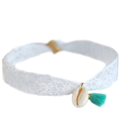 Fotlänk Shell white lace - Love Ibiza