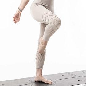 Yogaleggings Seamless Perfect fit 7/8 Champagne - Vackraliv Yoga